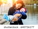 beautiful young age she and her ... | Shutterstock . vector #640726177