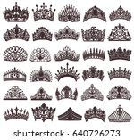 illustration set of silhouettes ... | Shutterstock . vector #640726273