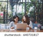 asian beautiful woman working... | Shutterstock . vector #640731817