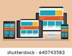 computer responsive concept... | Shutterstock .eps vector #640743583