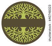 tree logo vector stylized... | Shutterstock .eps vector #640748323