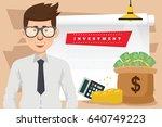 investment businessman concept... | Shutterstock .eps vector #640749223