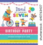 kids birthday party invitation... | Shutterstock .eps vector #640763437
