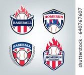 vector design set of baseball... | Shutterstock .eps vector #640767607