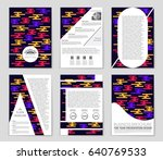 abstract vector layout... | Shutterstock .eps vector #640769533