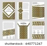 abstract vector layout... | Shutterstock .eps vector #640771267