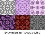 set of 6 modern geometric... | Shutterstock .eps vector #640784257