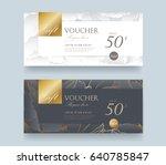 gift voucher discount template... | Shutterstock .eps vector #640785847