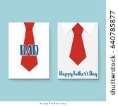 happy fathers day card design... | Shutterstock .eps vector #640785877