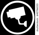 video surveillance sign black....   Shutterstock .eps vector #640786033