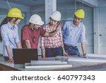 multiethnic professional... | Shutterstock . vector #640797343