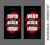 black friday sale inscription... | Shutterstock . vector #640802767