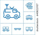 wagon icon. set of 6 wagon... | Shutterstock .eps vector #640821937