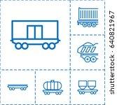 wagon icon. set of 6 wagon... | Shutterstock .eps vector #640821967