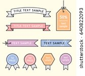 ribbon label vector... | Shutterstock .eps vector #640822093