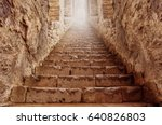 stairs going up to the light | Shutterstock . vector #640826803