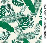 seamless tropical pattern with... | Shutterstock .eps vector #640827193