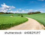 spring or summer landscape with ... | Shutterstock . vector #640829197