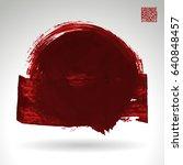 brush stroke and texture.... | Shutterstock .eps vector #640848457