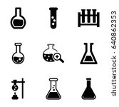beaker icons set. set of 9... | Shutterstock .eps vector #640862353