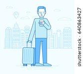 vector illustration in trendy... | Shutterstock .eps vector #640863427