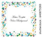 festive colorful square... | Shutterstock .eps vector #640875283