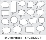 speech bubbles comics stroke... | Shutterstock .eps vector #640883377