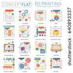 infographics mini concept 3d... | Shutterstock . vector #640893337