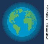 earth globe vector | Shutterstock .eps vector #640898617