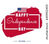 happy 4th of july  ... | Shutterstock .eps vector #640902403