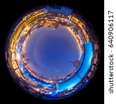 circle panorama of modern... | Shutterstock . vector #640906117
