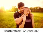 the concept of love. a loving... | Shutterstock . vector #640921207