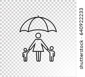 family protect icon vector.    Shutterstock .eps vector #640922233