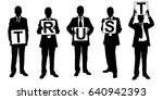 silhouettes of people holding...   Shutterstock .eps vector #640942393