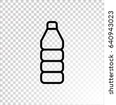 plastic bottle icon flat | Shutterstock .eps vector #640943023