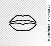lips icon flat. | Shutterstock .eps vector #640943617