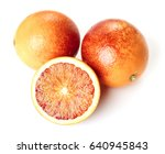 sicilian blood oranges on white ... | Shutterstock . vector #640945843