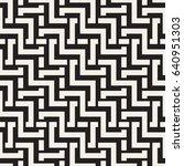 interlacing lines maze lattice. ... | Shutterstock .eps vector #640951303