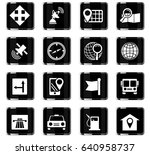 navigation vector icons for... | Shutterstock .eps vector #640958737