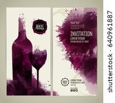 invitation template for event... | Shutterstock .eps vector #640961887