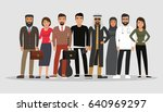creative group of different... | Shutterstock .eps vector #640969297