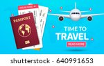travel banner design. vacation... | Shutterstock .eps vector #640991653