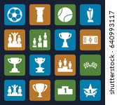 championship icons set. set of... | Shutterstock .eps vector #640993117