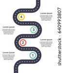 infographic template four steps ... | Shutterstock . vector #640993807