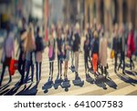 crowd of anonymous people... | Shutterstock . vector #641007583