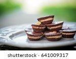 peanut butter cups   Shutterstock . vector #641009317