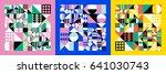 abstract modern geometric...   Shutterstock .eps vector #641030743