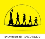 walk with jesus  follow jesus... | Shutterstock .eps vector #641048377