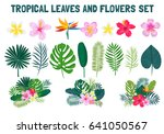 a set of summer elements ... | Shutterstock .eps vector #641050567
