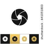 camera shutter or photography... | Shutterstock . vector #641051803